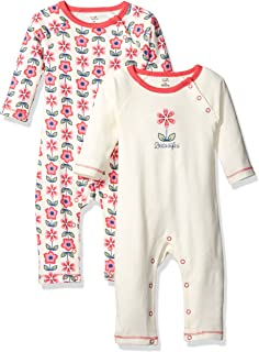 Touched by Nature Baby 2-Pack Organic Cotton Union Suit