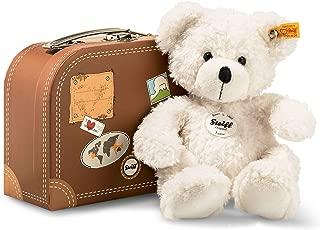 Steiff Lotte 泰迪熊手提箱毛绒玩具,白色