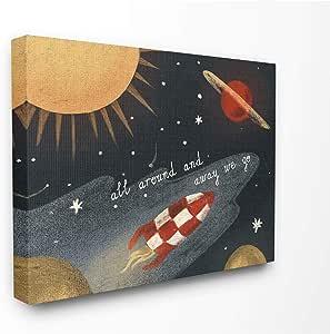 Stupell Best Little Boy Family Kids Home Inspirational Word 设计帆布墙画 多色 16x20 brp-2526_cn_16x20