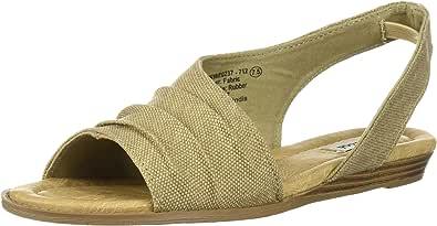 Not Rated Shantelle 女士坡跟凉鞋 沙色 6 B(M) US