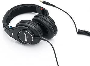 舒爾 SRH840 封閉式耳機 / 耳塞 黑色 高級 參考耳機 / 演播室耳機 降噪 可折疊 可換電纜 頻率響應(低音,中音,高音) 精確調整