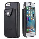 iPhone 6S 手机壳 acrass 钱包手机壳后袋和卡槽适用于 iPhone 6/ 6s 25.4CM ) 黑色