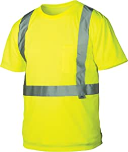 Pyramex rts2110x3 Lumen x class 2 T 恤,3XL 码,高可见性石灰色 Pyramex Safety