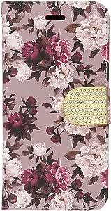 hrwireless (TM) 适用于 Apple iphone 66S 4.7英寸高级 PU 皮革翻盖钱包信用卡护套 Romantic Pink White Roses Floral