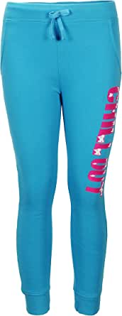 Crush 女孩拉绒法国厚绒印花慢跑运动裤(请参阅更多款式) Turq (568) Size 5-6