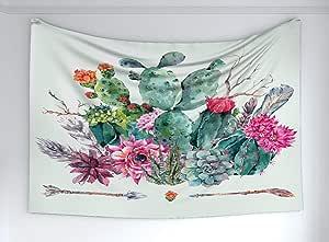 Ambesonne 曼陀罗挂毯,精神古代象征现代设计艺术冥想瑜伽,织物壁挂装饰卧室客厅宿舍,深蓝色蓝蓝绿色
