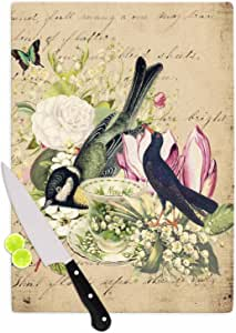 "KESS InHouse Suzanne Carter ""复古茶鸟插图""砧板,29.21 x 40.01 厘米,多色"
