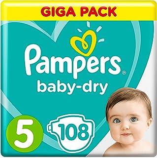 Pampers 婴儿干尿布 5 码(11 - 23 千克) - 每包 108 件婴儿干尿布 5 件(11 - 16 千克)(24-35 磅)- 108 件