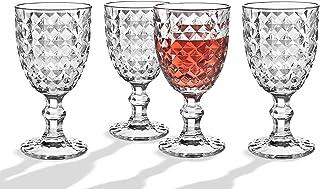玻璃饮料套装酒杯水,果汁杯 - 4 件套