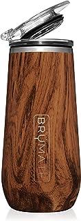 BrüMate 12盎司(约340.2毫升)绝缘香槟酒杯,带饮用盖 - 采用真空绝缘不锈钢制成 胡桃棕色 CF12WAL