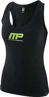Musclepharm 女式 431 印花背心 黑色/青柠绿 X-Small MPLVST431 LADIES MUSCLE PHARM PRINTED VEST BLACK/LIME GREEN X SMALL