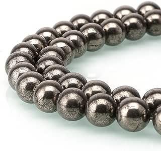 BRCbeads 天然宝石散珠水晶能量石愈合力用于珠宝制作、6、8、10mm 金黄铁矿 8mm unknown