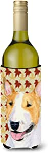 Bull Terrier Fall Leaves Portrait Michelob Ultra Koozies for slim cans SS4360MUK 多色 750 ml