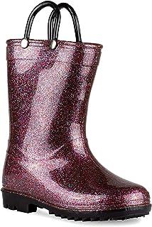 Lilly of New York 儿童闪光雨靴,适合小孩和幼儿,男孩和女孩