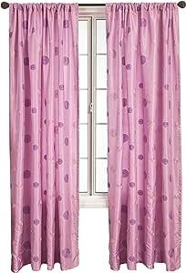 Diplomat Decor Kitwe 杆袋镶板,213.36 厘米 淡紫色 55 by 84 CIRLIL84RPP