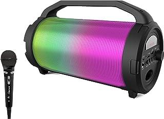 iDance Cyclone 400 便携式音箱,带卡拉OK(蓝牙,MP3,USB,FM 收音机,派对灯系统)
