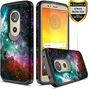 GORGCASE Moto G6 Play Case, Moto G6 Forge 手机壳带屏幕保护膜,超薄可爱设计防震防摔硬质 PC TPU 皮肤青少年女孩女士男士护甲保护套4348740863 Galaxy Star