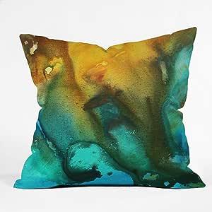DENY Designs Madart River Of Rust 3 Throw Pillow