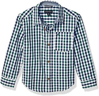 Nautica 诺帝卡男童长袖针织格子衬衫