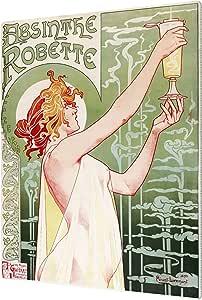 "ArtWall Privat Livemont's Absinthe Robette Poster Aluminum Print Artwork, 14"" x 18"""