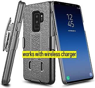 Galaxy S9 Plus 手机壳,Micro7 高级混合手机保护套带支架,适用于三星 Galaxy S9 Plus 2018 版本Samsung Galaxy S9 Plus 黑色