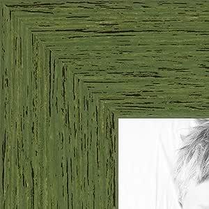 """红橡木底樱桃木画,1.91 cm 宽 绿色 22 x 24"""" 2WOM0066-1343-YGRN-22x24"""