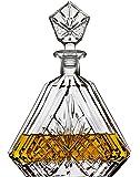 Whiskey *器适用于Liquor Scotch Bourbon 或酒红色,爱尔兰切割三角形 - 750ml