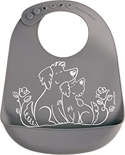 Modern Twist Silicone Bucket Bib Puppy Grey
