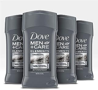 Dove 多芬男士护理止汗固体香体膏,强力吸汗,不含皮肤炭,48小时防汗防臭,2.7盎司,4支装