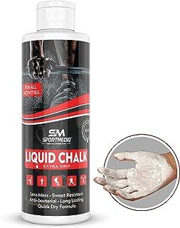 SPORTMEDIQ 专业级液体粉笔 – 免脏乱专业手柄,适合健身房、举重、攀岩、体操、攀岩 – 瞬间干燥 – 8.5盎司