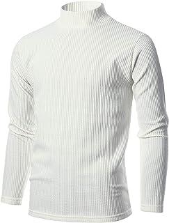 GIVON 男式修身宽罗纹棉混纺高领套头衫