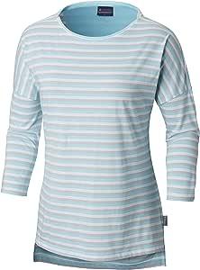 Columbia 女士 PFG Harborside 七分袖衬衫 X大码 蓝色 1709561-451-X-Large