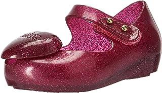 Mini Melissa Mini Ultragirl Heart ME 儿童芭蕾平底鞋 粉红色 10 Medium US Toddler