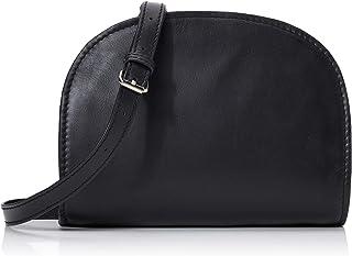 PIECES Pchonoria Pchonoria 皮革斜挎包,黑色(黑色),6x15x20.5厘米