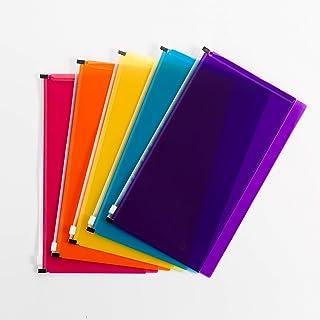 Smead Stick-N-Store 涤纶袋,拉链封口,15.24 cm 宽 x 29.21 cm 高,每包 5 件 (68181)