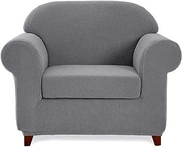 toyabr 2件套提花弹力面料沙发涤棉客厅沙发 slipcovers 床沙发保护膜适用于 furniture