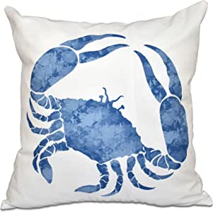 "E by design Crab-Parent 蓝色 20"" x 20"" PAN467BL15BL17-20"
