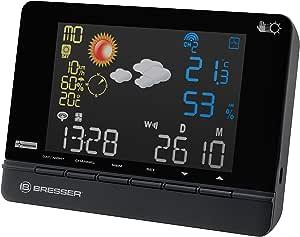 BRESSER 收音机气象站4CAST CS 带2DAYS meteosat 带2DAYS 天气预测–黑色