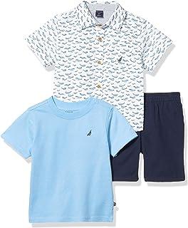 Nautica 套装 (KHQ) 男孩短袖衬衫
