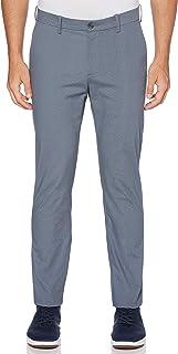 Perry Ellis 男式修身弹力纹理印花斜纹棉布裤