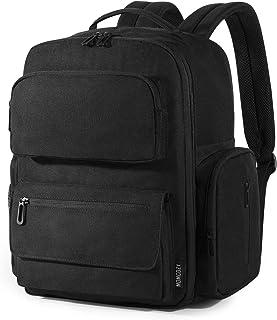 妈咪包背包,Momcozy 大号婴儿尿布旅行包背包,男女皆宜,带更换垫和婴儿车肩带 黑色 large