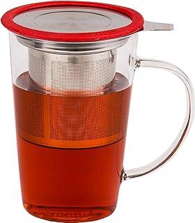 用于注入咖啡茶牛奶的玻璃茶杯,带礼品盒 红色 unknown