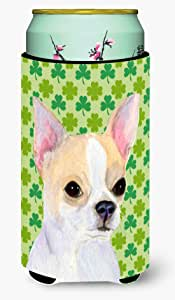 Caroline's Treasures SS4405-Parent Chihuahua St. Patrick's Day 三叶草肖肖像超饮保温器适用于纤薄罐 SS4405MUK,多色 多种颜色 Tall Boy SS4405TBC
