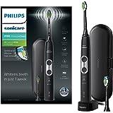 Philips 飞利浦 Sonicare ProtectiveClean 6100 HX6870 / 47 电动牙刷,带旅行盒,3种清洁模式,3种强度和附加的牙刷头,黑色(英国2针浴室插头)