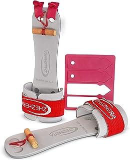 Zhezhera 专业钉子体操把手适用于女孩(热弹力 - 成对出售)| 原装比赛级体操护手 | 专业女士体操把 适用于不规则杠杆