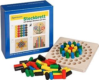 Unbekannt Egermann EH223/231 - 棋盘木插图游戏圆,幼儿玩具