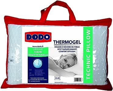 Dodo 8221640 水嘴枕头,聚酯/莫代尔,Uni + 内罩聚酯/针织 + 填充粘弹性*泡沫/聚乙烯,40 x 60 厘米,白色