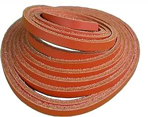 213.36 厘米皮革系带 1/8 英寸宽 2.4-2.8 毫米厚 - 明亮的颜色-牢固和灵活的系带用于珠宝制作 - DIY 皮革工艺 橙色 18-LACE-84