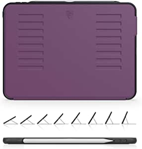 ZUGU 手机壳 - 2018 iPad Pro 11 英寸手机壳 Prodigy X - 非常保护但薄 + 方便的磁性支架 + */唤醒盖(黑色)ZG-M-1118P Purple 2018 iPad Pro 11