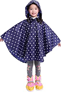 Spmor 儿童轻便雨披连帽可收纳夹克户外雨衣